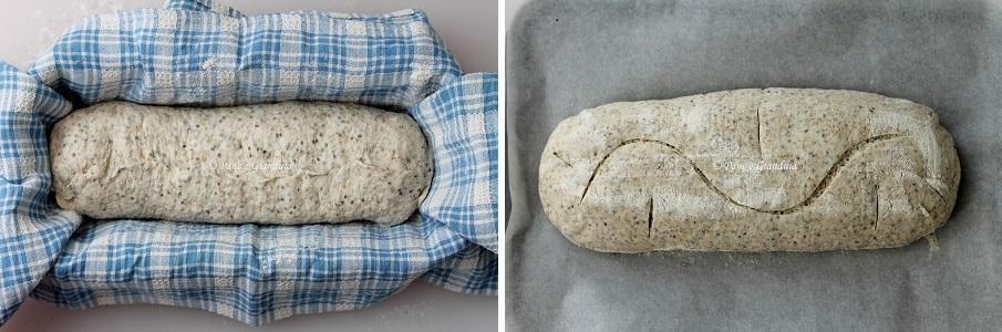 Pane integrale con semi di chia e pasta madre