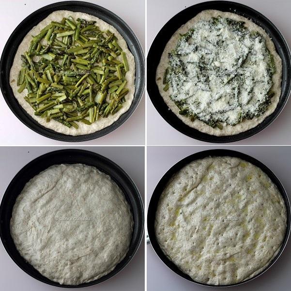 Ricetta Focaccia integrale con asparagi e parmigiano