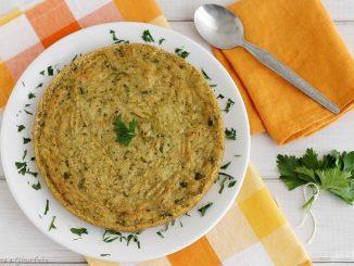 Tortino vegetariano di amaranto con patate e zucchine