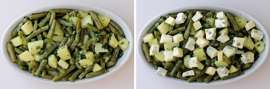 Ricetta Fagiolini e patate gratinati ai formaggi