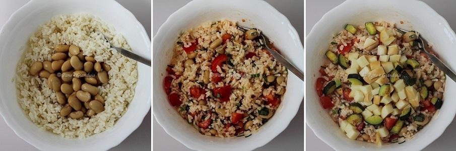 Ricetta Insalata di riso con fagioli corona e silana affumicata