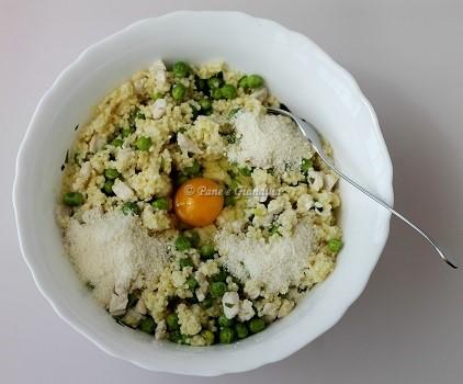 Ricetta Polpette di miglio con pollo e piselli