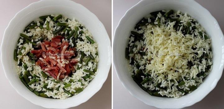 Tortino di riso con fagiolini e speck