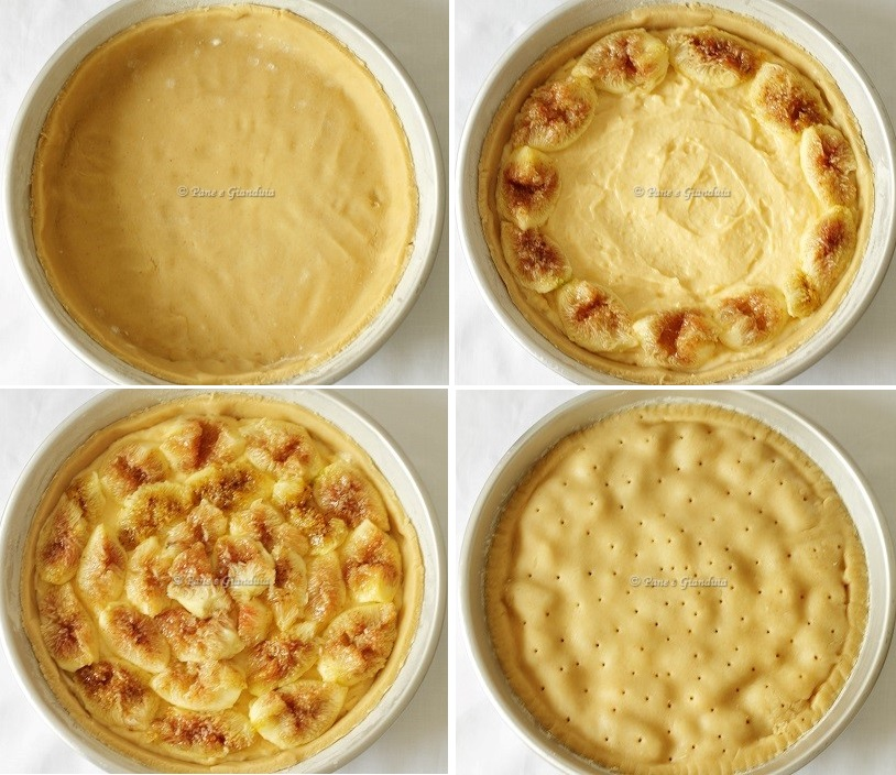 Ricetta Crostata di fichi e crema con frolla alla cannella