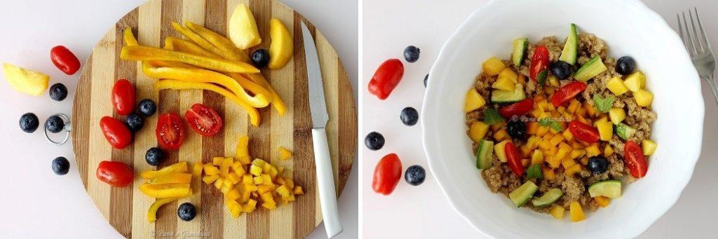 Ricetta Insalata di amaranto con frutta e formaggio