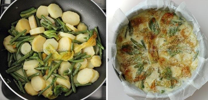 Ricetta Tortilla di patate con fiori di zucca