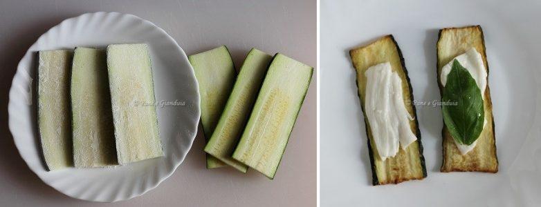 Involtini di zucchine e mozzarella