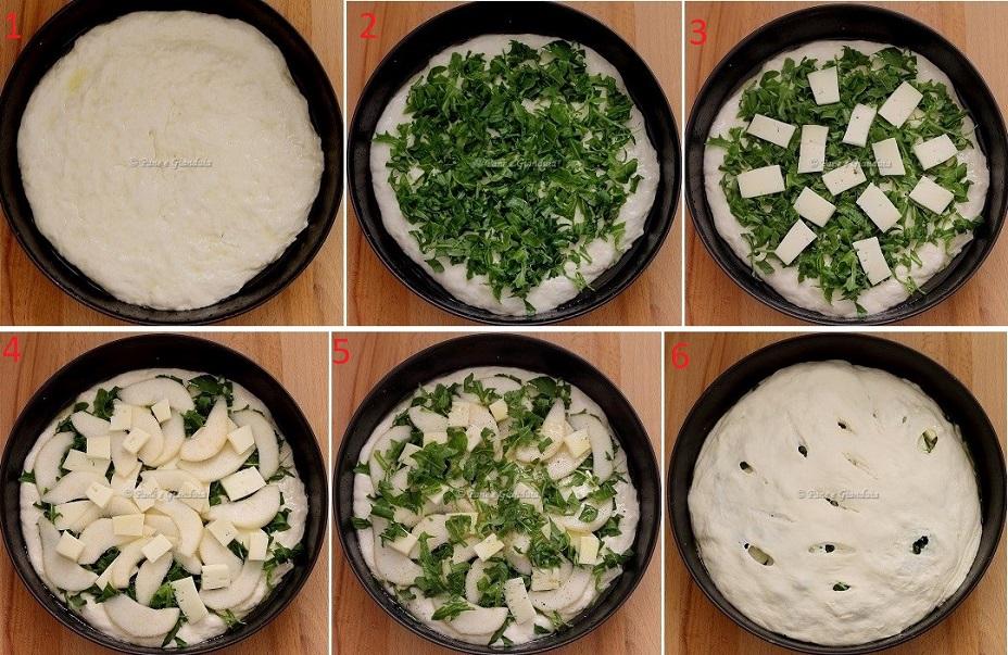 Ricetta Focaccia con pere madernassa e formaggio Bra