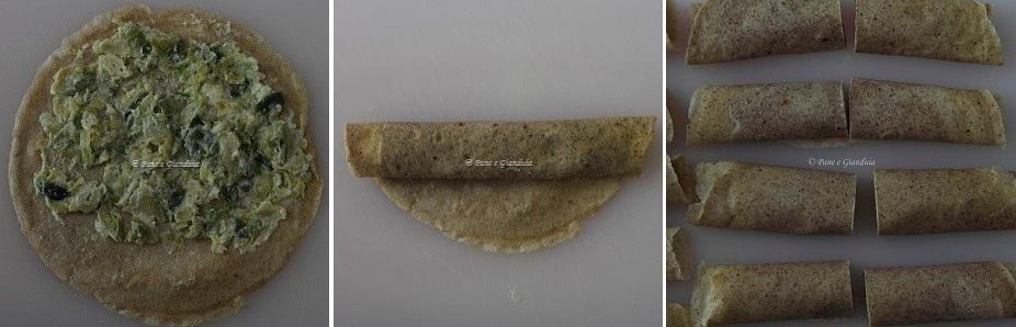 Crepes di grano saraceno con cavoletti di bruxelles