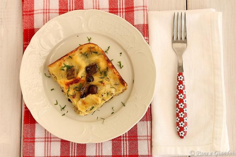 Ricetta Lasagne ai funghi con salsiccia e formaggio