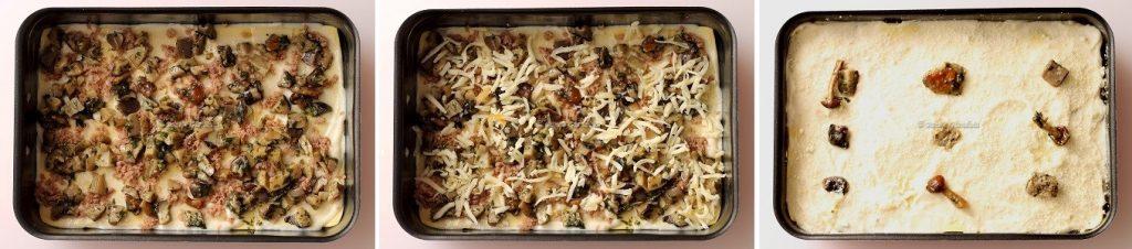 Ricetta Lasagne ai funghi salsiccia e formaggio