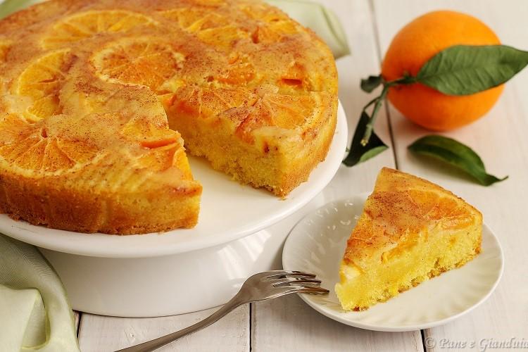 Torta di semola alle arance e zenzero