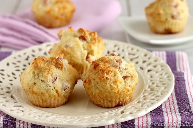Muffin salati al prosciutto cotto