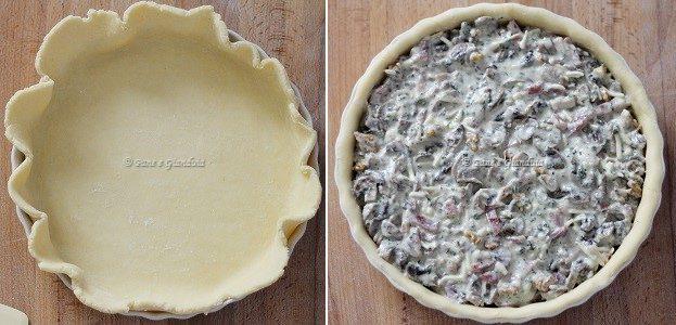 Ricetta Quiche ai funghi con speck e noci