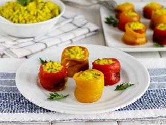 Involtini di peperone e riso freddo