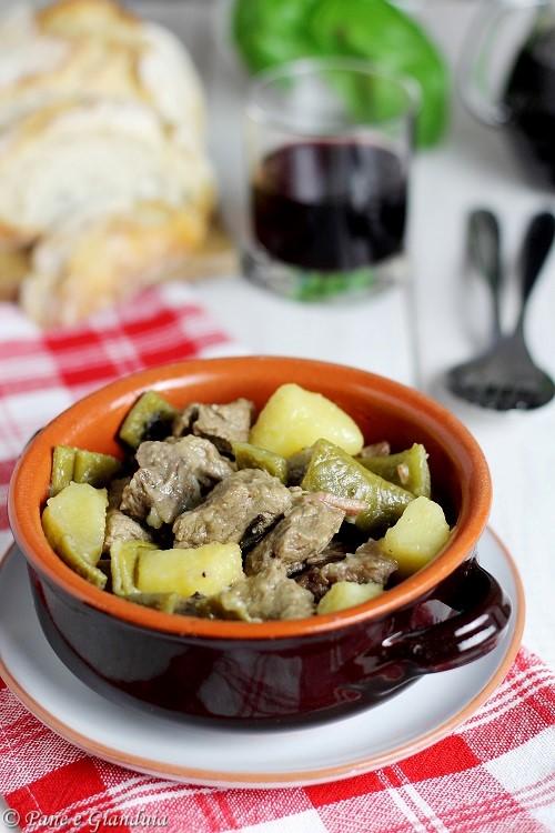 Cassola con fagioli e patate
