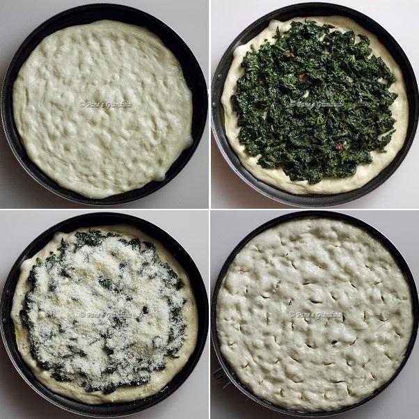 Focaccia ripiena con spinaci e pecorino