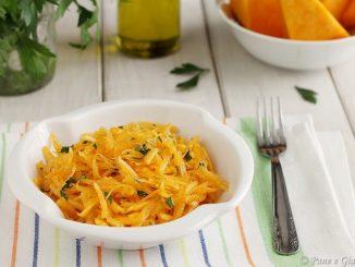 Zucca cruda in insalata