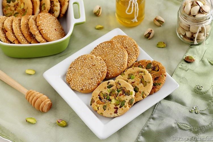 Barazek biscotti siriani al sesamo e pistacchio