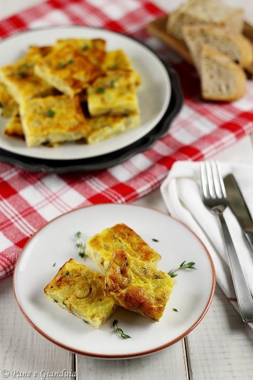 Frittata al forno con cipolline e patate