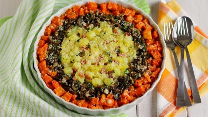 Tris di verdure gratinate