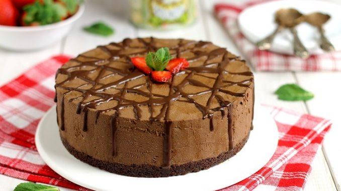 Cheesecake al cioccolato con ricotta