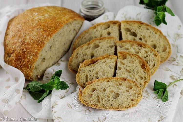 Pane ai semi di chia e menta