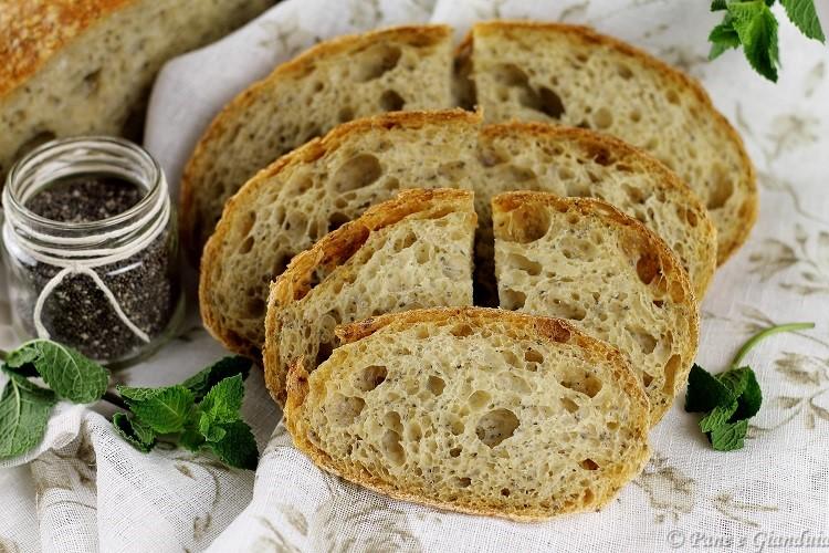 Pane con semi di chia e menta