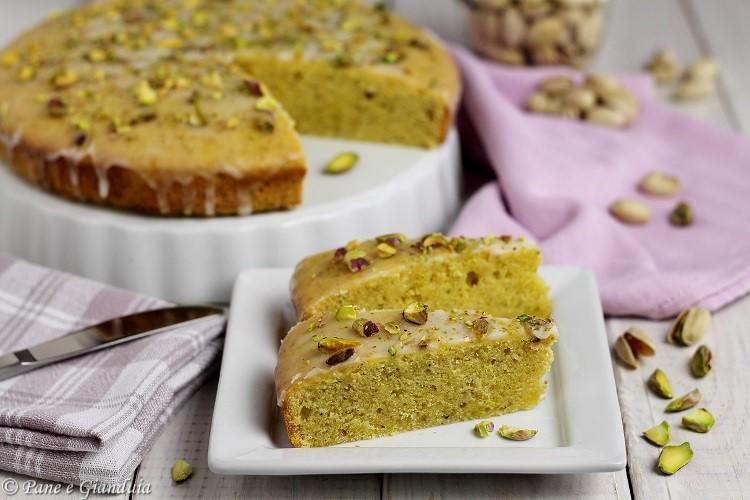 Torta pistacchi e panna